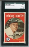1959 Topps 82 #10 Mickey Mantle SGC EX/MT + 82 / 6.5