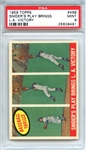 1959 Topps 468 Duke Sniders Play Brings LA Victory PSA MINT 9