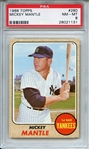 1968 Topps 280 Mickey Mantle PSA NM-MT 8