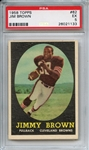 1958 Topps 62 Jim Brown RC PSA EX 5