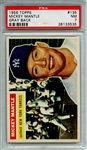 1956 TOPPS 135 MICKEY MANTLE GRAY BACK PSA NM 7