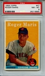 1958 TOPPS 47 ROGER MARIS RC PSA NM-MT 8