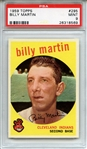 1959 TOPPS 295 BILLY MARTIN PSA MINT 9