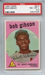 1959 TOPPS 514 BOB GIBSON RC PSA NM-MT+ 8.5