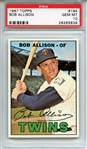 1967 TOPPS 194 BOB ALLISON PSA GEM MT 10