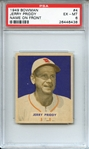 1949 BOWMAN 4 JERRY PRIDDY NAME ON FRONT PSA EX-MT 6