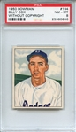 1950 BOWMAN 194 BILLY COX WITHOUT COPYRIGHT PSA NM-MT 8