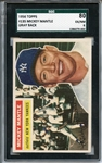 1956 TOPPS 135 MICKEY MANTLE GRAY BACK SGC EX/MT 80 / 6