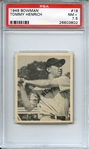 1948 BOWMAN 19 TOMMY HENRICH PSA NM+ 7.5