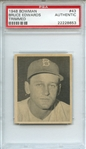 1948 BOWMAN 43 BRUCE EDWARDS TRIMMED PSA AUTHENTIC