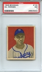 1949 BOWMAN 100 GIL HODGES RC PSA NM 7