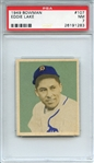 1949 BOWMAN 107 EDDIE LAKE PSA NM 7