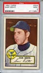 1952 TOPPS 304 SAM DENTE PSA MINT 9