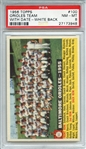 1956 TOPPS 100 ORIOLES TEAM WITH DATE-WHITE BACK PSA NM-MT 8