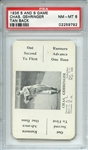 1936 S AND S GAME CHAS. GEHRINGER TAN BACK PSA NM-MT 8