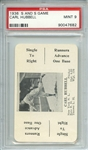 1936 S AND S GAME CARL HUBBELL PSA MINT 9