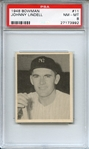 1948 BOWMAN 11 JOHNNY LINDELL PSA NM-MT 8