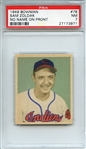 1949 BOWMAN 78 SAM ZOLDAK NO NAME ON FRONT PSA NM 7