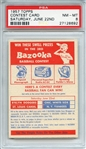 1957 TOPPS CONTEST CARD SATURDAY, JUNE 22ND PSA NM-MT 8