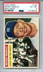 1956 TOPPS 135 MICKEY MANTLE GRAY BACK PSA EX-MT 6