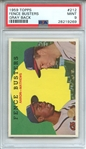 1959 TOPPS 212 FENCE BUSTERS GRAY BACK PSA MINT 9
