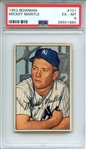 1952 BOWMAN 101 MICKEY MANTLE PSA EX-MT 6