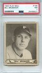 1940 PLAY BALL 166 BILL BRUBAKER PSA NM 7