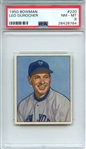 1950 BOWMAN 220 LEO DUROCHER PSA NM-MT 8