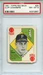 1951 TOPPS RED BACK 25 CLIFF CHAMBERS PSA NM-MT 8