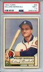 1952 TOPPS 96 WILLARD MARSHALL PSA NM+ 7.5