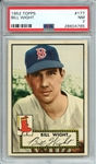 1952 TOPPS 177 BILL WIGHT PSA NM 7