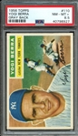 1956 TOPPS 110 YOGI BERRA GRAY BACK PSA NM-MT+ 8.5