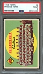1959 TOPPS 8 PHILADELPHIA PHILLIES TEAM PSA MINT 9
