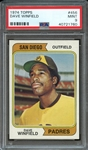 1974 TOPPS 456 DAVE WINFIELD RC PSA MINT 9