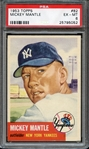1953 TOPPS 82 MICKEY MANTLE PSA EX-MT 6