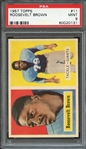 1957 TOPPS 11 ROOSEVELT BROWN PSA MINT 9