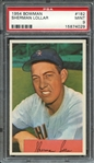 1954 BOWMAN 182 SHERMAN LOLLAR PSA MINT 9