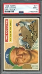 1956 TOPPS 21 JOE COLLINS GRAY BACK PSA MINT 9