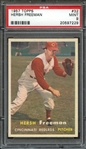1957 TOPPS 32 HERSH FREEMAN PSA MINT 9