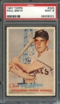 1957 TOPPS 345 PAUL SMITH PSA MINT 9