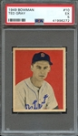 1949 BOWMAN 10 TED GRAY PSA EX 5