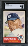 1953 TOPPS 82 MICKEY MANTLE SGC VG/X 4