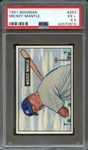 1951 BOWMAN 253 MICKEY MANTLE RC PSA EX+ 5.5