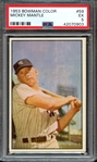 1953 BOWMAN COLOR 59 MICKEY MANTLE PSA EX 5