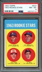 1963 TOPPS 537 PETE ROSE RC PSA NM-MT 8