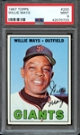 1967 TOPPS 200 WILLIE MAYS PSA MINT 9