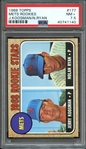 1968 TOPPS 177 NOLAN RYAN RC PSA NM+ 7.5