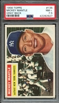 1956 TOPPS 135 MICKEY MANTLE GRAY BACK PSA NM+ 7.5