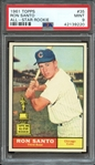 1961 TOPPS 35 RON SANTO ALL-STAR ROOKIE RC PSA MINT 9