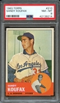 1963 TOPPS 210 SANDY KOUFAX PSA NM-MT 8